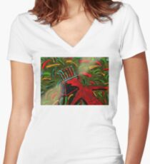 RECYCLIST Women's Fitted V-Neck T-Shirt