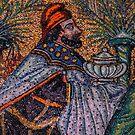Three Magi I Balthasar by Nigel Fletcher-Jones