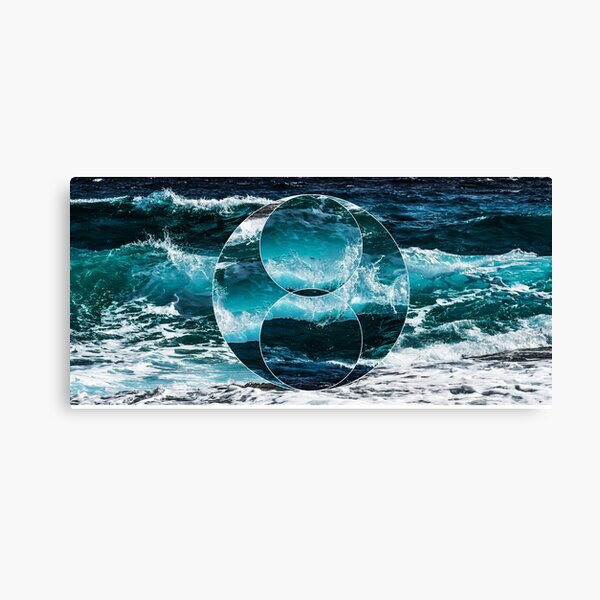 Waves Polyscape Canvas Print