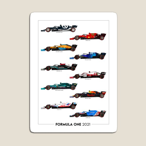 Formula 1 2021 Grid Artwork Portrait Magnet