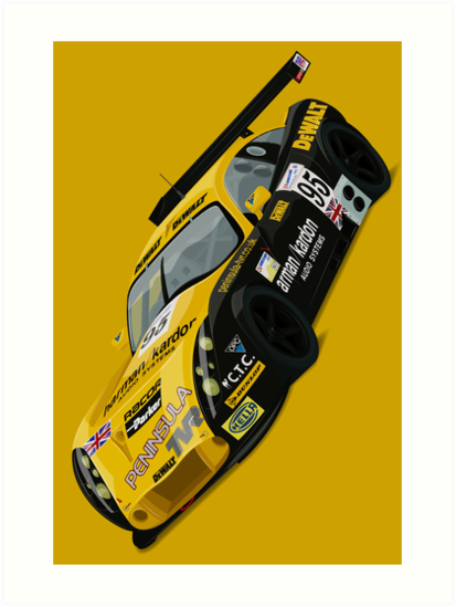 TVR Tuscan Le Mans Art Print (Yellow) by RacingColour