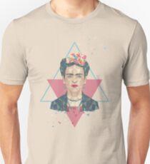Pastel Frida - Geometric Portrait with Triangles Unisex T-Shirt