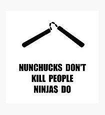 Nunchucks Ninja Photographic Print