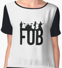Fall Out Boy Silhouettes Chiffon Top