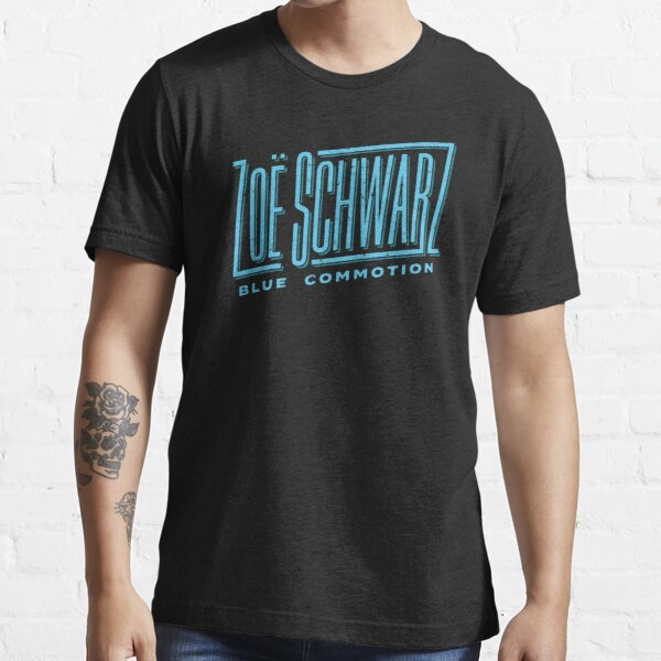 Zoe Schwarz Blue Commotion Logo Essential T-Shirt