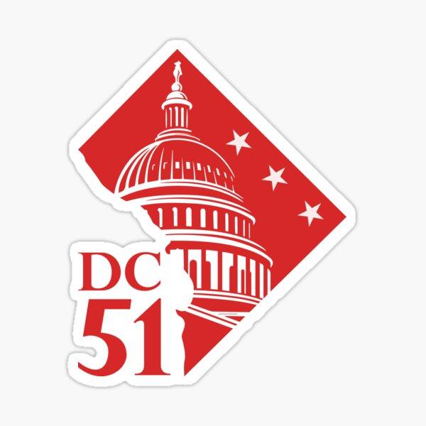 Washington DC statehood now flag map the capitol Sticker