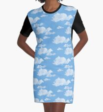 Blue Skies Graphic T-Shirt Dress