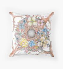 nesting wedding ring cushion  Throw Pillow