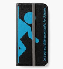 Let's Put Our Differences Aside. For Science. iPhone Wallet