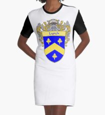 Lynch Coat of Arms/Family Crest Graphic T-Shirt Dress