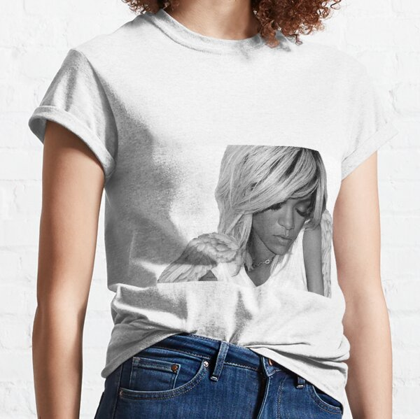 Rihanna is an angel (Black and White) Classic T-Shirt