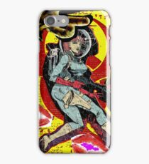 Space zombie graphic novel design iPhone Case/Skin