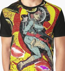 Space zombie graphic novel design Graphic T-Shirt