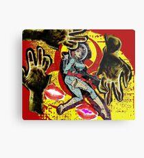 Space zombie graphic novel design Metal Print
