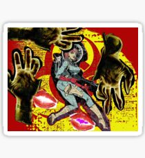 Space zombie graphic novel design Sticker
