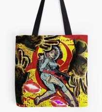 Space zombie graphic novel design Tote Bag