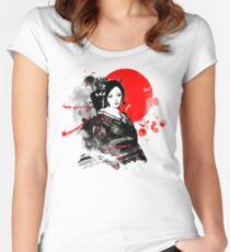 Japan Kyoto Geisha Women's Fitted Scoop T-Shirt