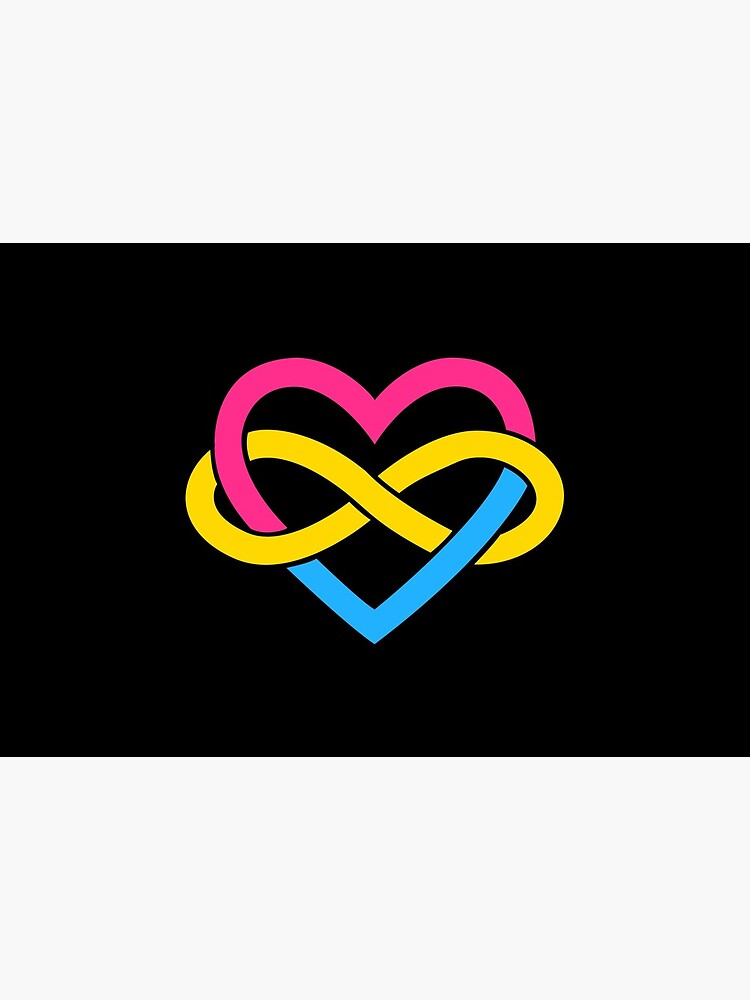 Pansexual Polyamory Infinity Heart (Black) by polyphiliashop