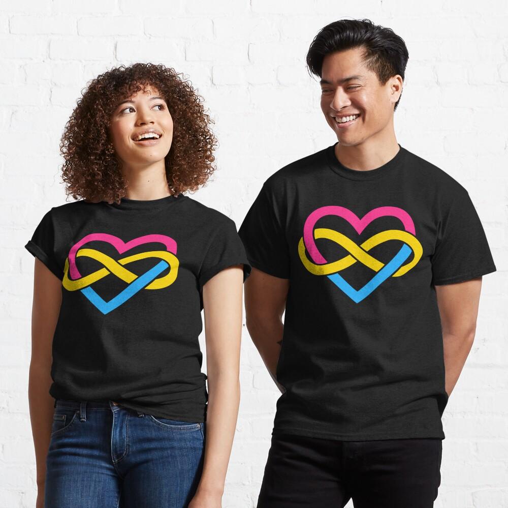 Pansexual Polyamory Infinity Heart (Black) Classic T-Shirt