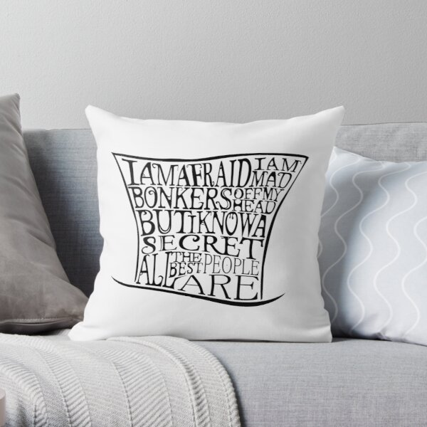 Mad as a Hatter Throw Pillow