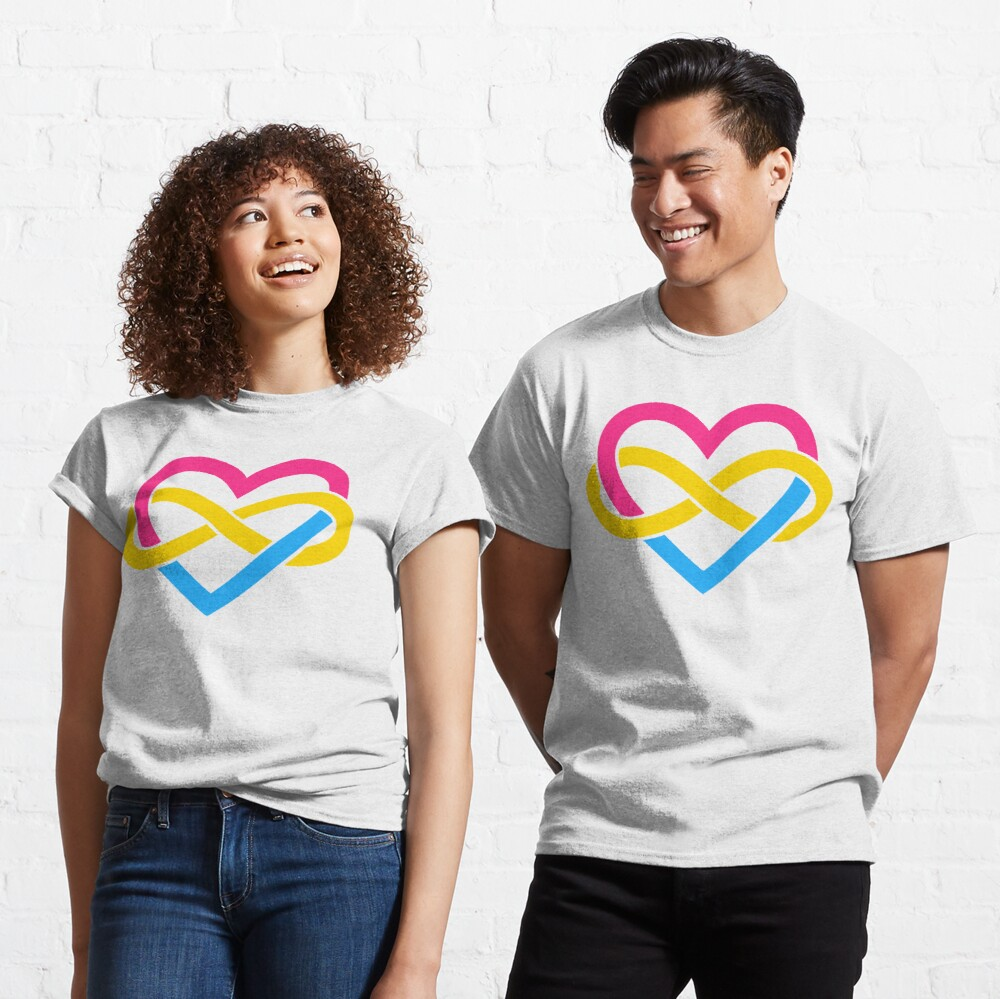 Pansexual Polyamory Infinity Heart (White) Classic T-Shirt