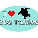 I Heart Sea Turtles by tessanicole