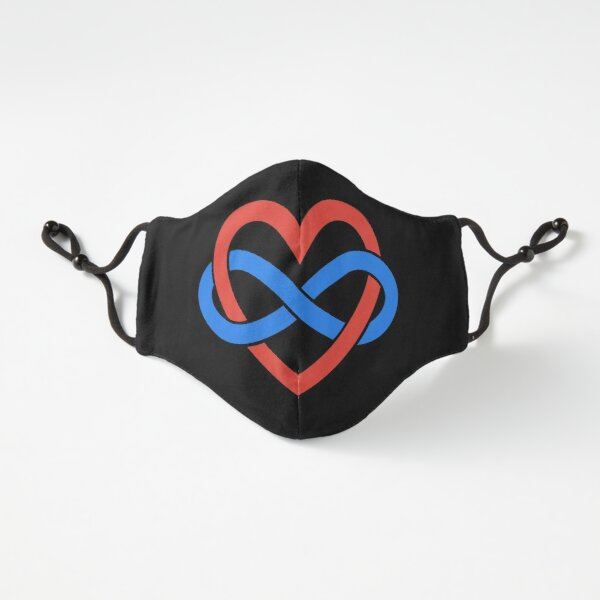 Polyamory Infinity Heart (Black) Fitted 3-Layer