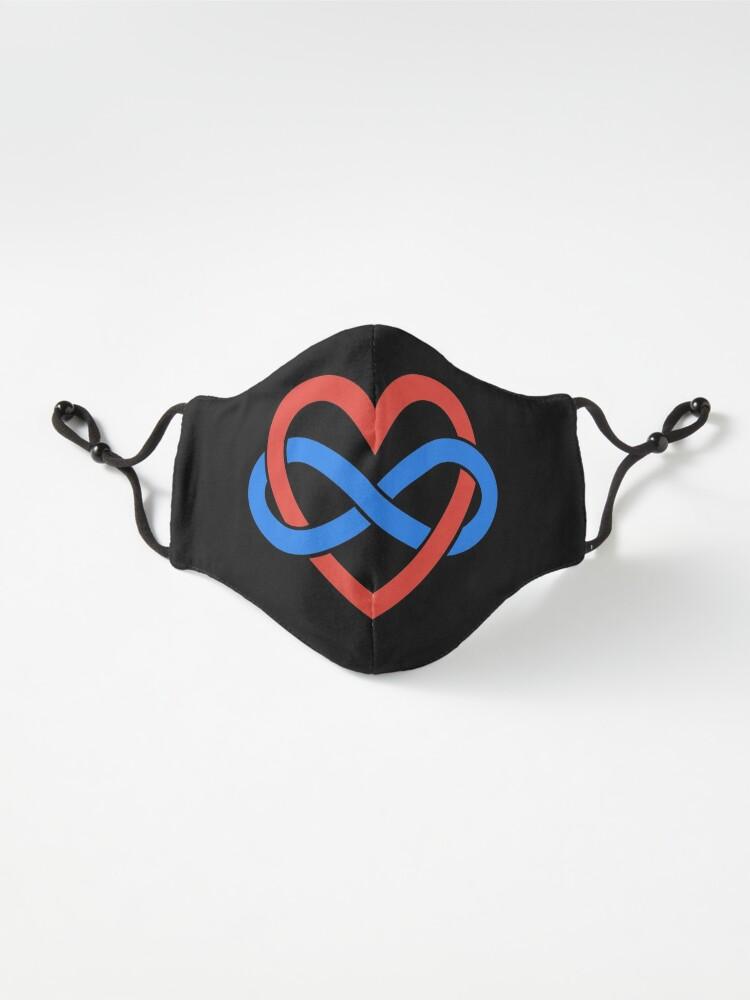 Alternate view of Polyamory Infinity Heart (Black) Mask