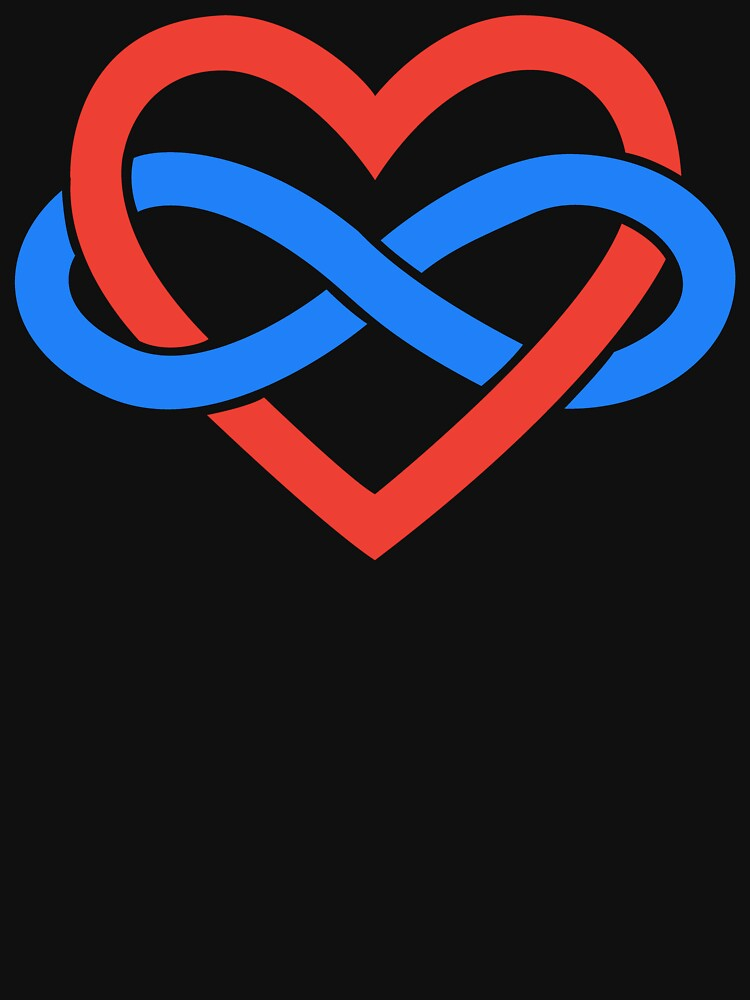 Polyamory Infinity Heart (Black) by polyphiliashop