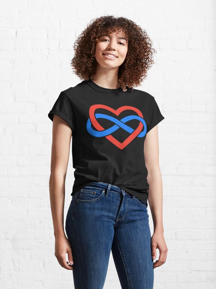 Alternate view of Polyamory Infinity Heart (Black) Classic T-Shirt