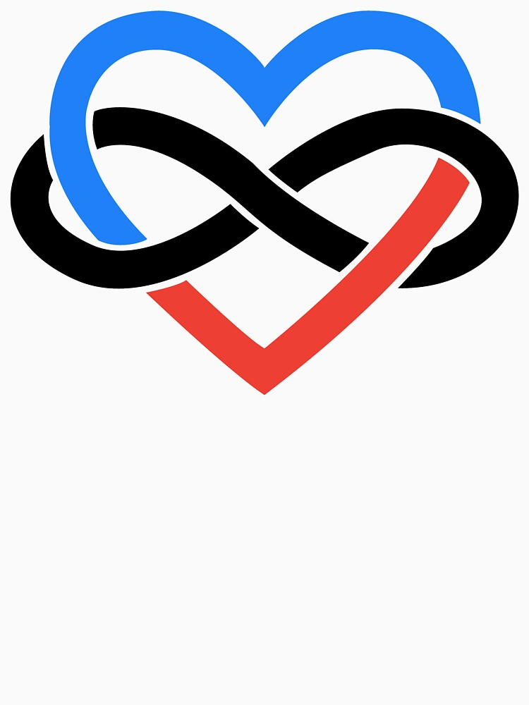 Polyamory Infinity Heart (White) by polyphiliashop