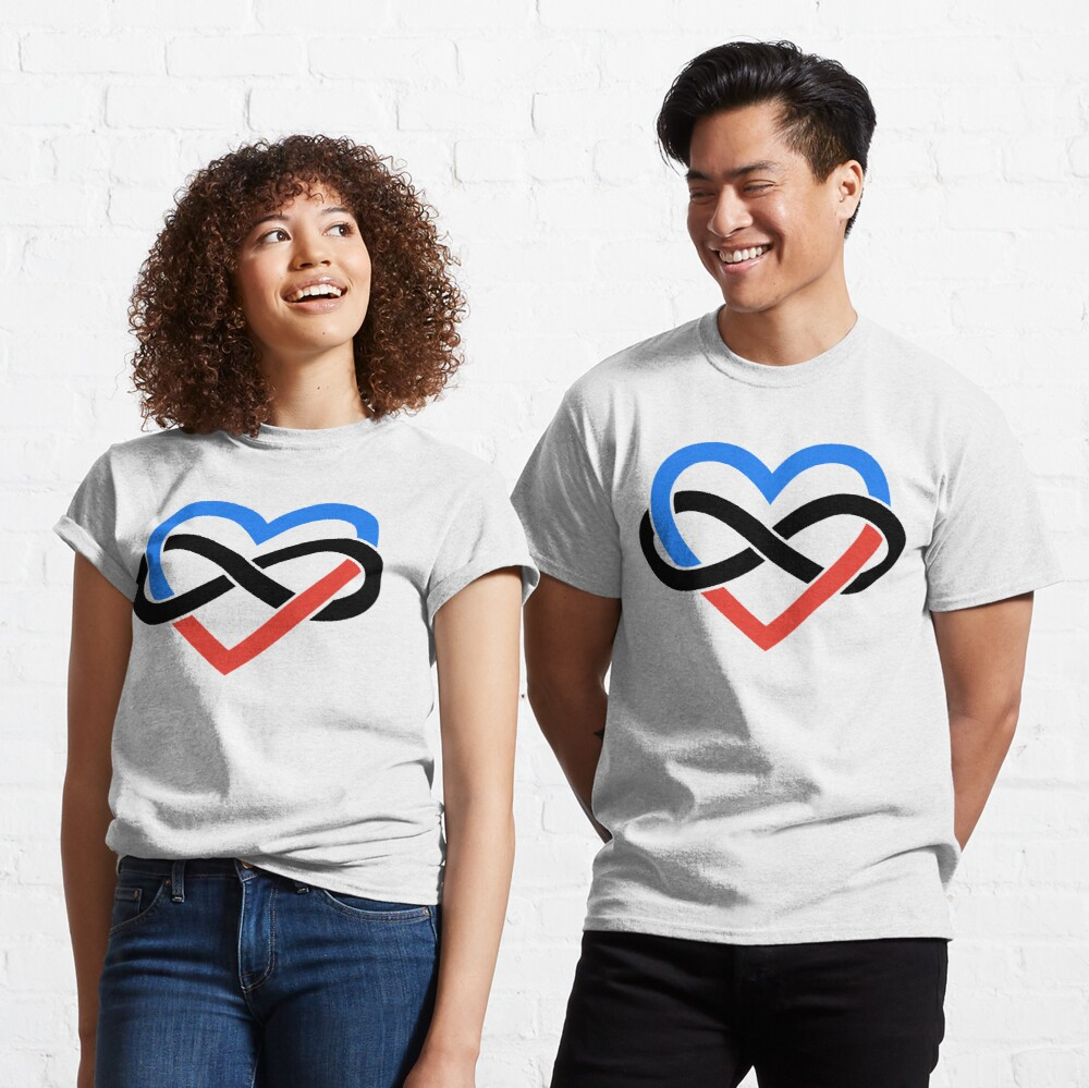 Polyamory Infinity Heart (White) Classic T-Shirt
