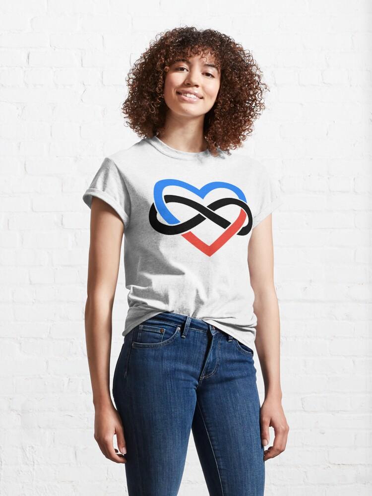 Alternate view of Polyamory Infinity Heart (White) Classic T-Shirt