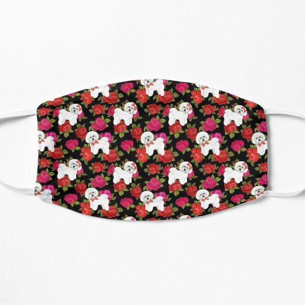 Bichon Frise Red rose, Pink rose Floral Mask