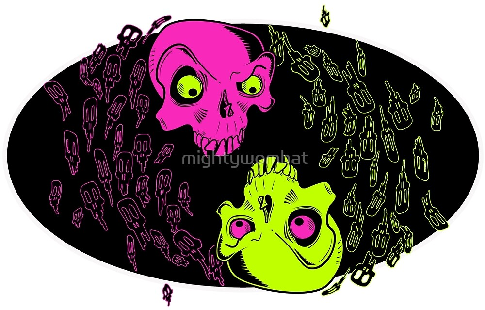 Yin Yang Skulls and friends by mightywombat