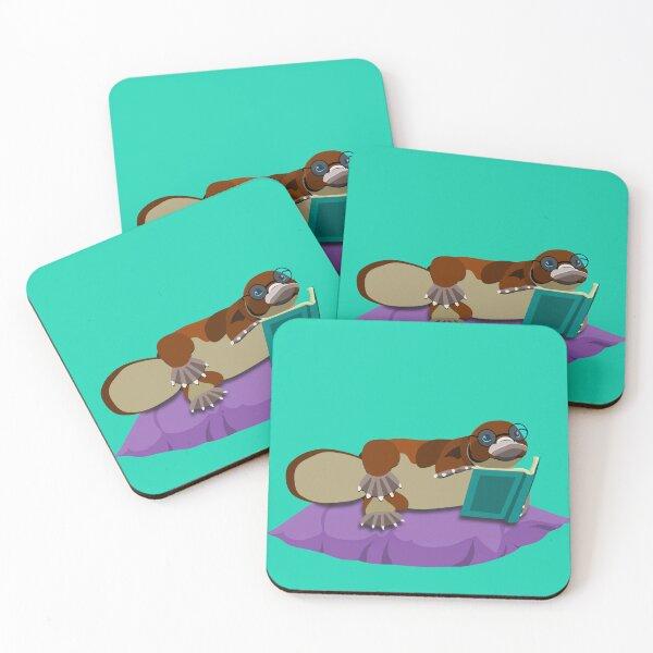 Cute platypus Coasters (Set of 4)