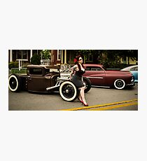 Pin Up and Hot Rods Photographic Print