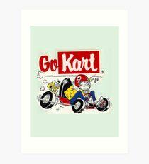 Go Kart Vintage Art Print