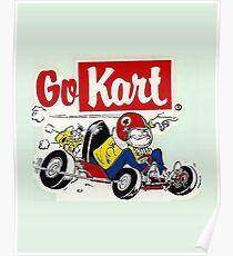 Go Kart Vintage Poster