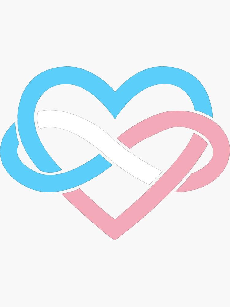 Transgender Polyamory Infinity Heart (Black) by polyphiliashop