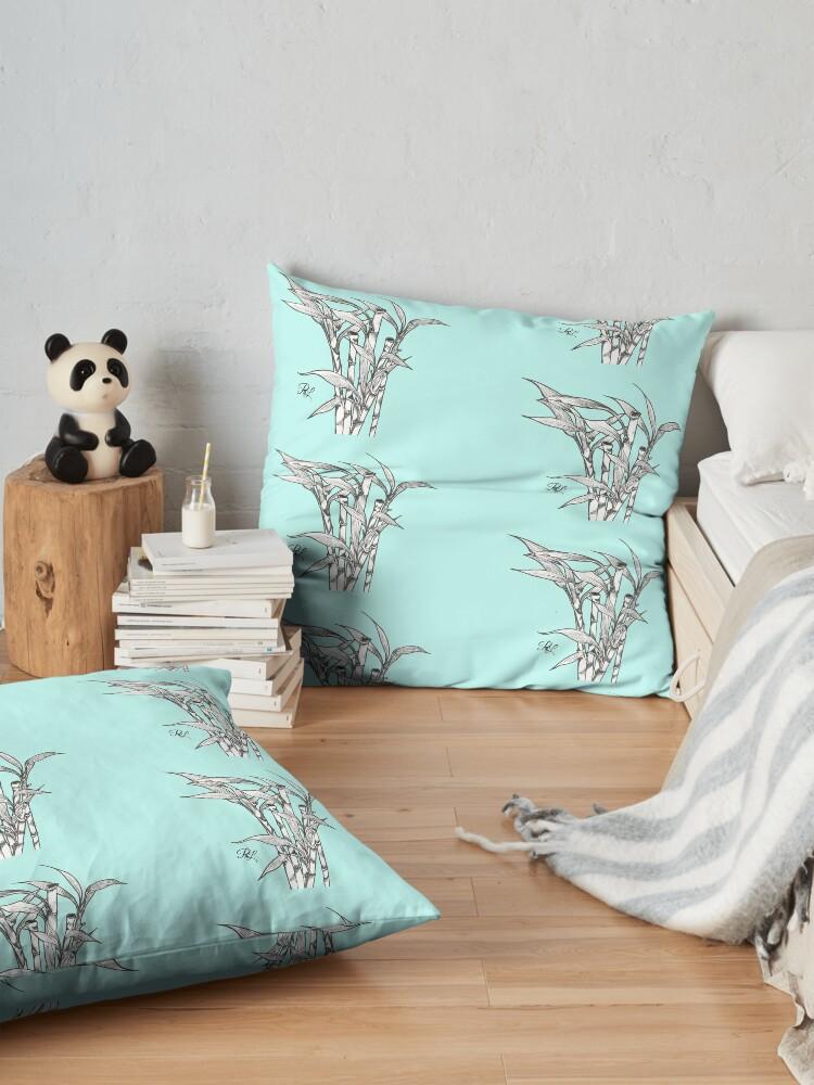 Alternate view of Bamboos  Floor Pillow