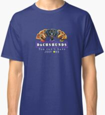 Dachshunds :: You Can't Have Just One {dark} Classic T-Shirt