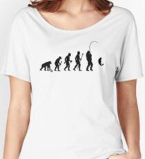 Evolution Of Man and Fishing Women's Relaxed Fit T-Shirt