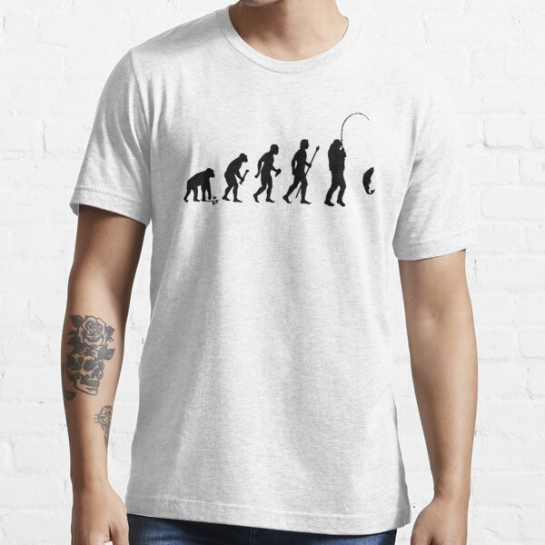 Evolution de l'homme et de la pêche T-shirt essentiel
