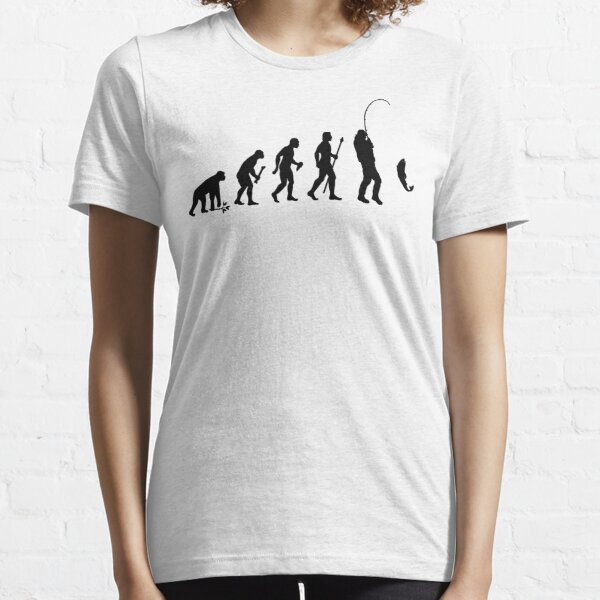 Evolution Of Man and Fishing Essential T-Shirt