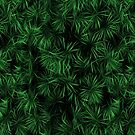 Floral Green Abstract by David Dehner