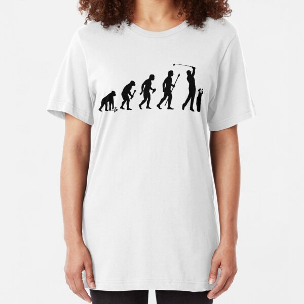 Evolution Of Man and Golf Slim Fit T-Shirt