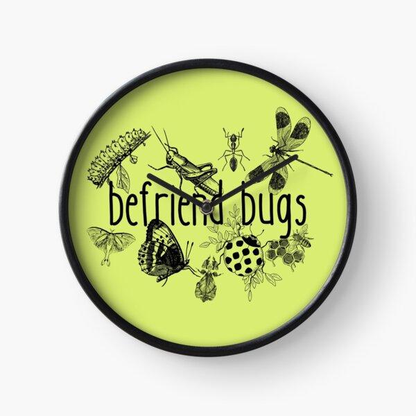Befriend Bugs Line Drawing Pollinator Design Clock
