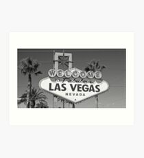 Welcome to Las Vegas black and white Art Print
