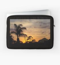 Fast Moving Clouds at Sunset Laptop Sleeve